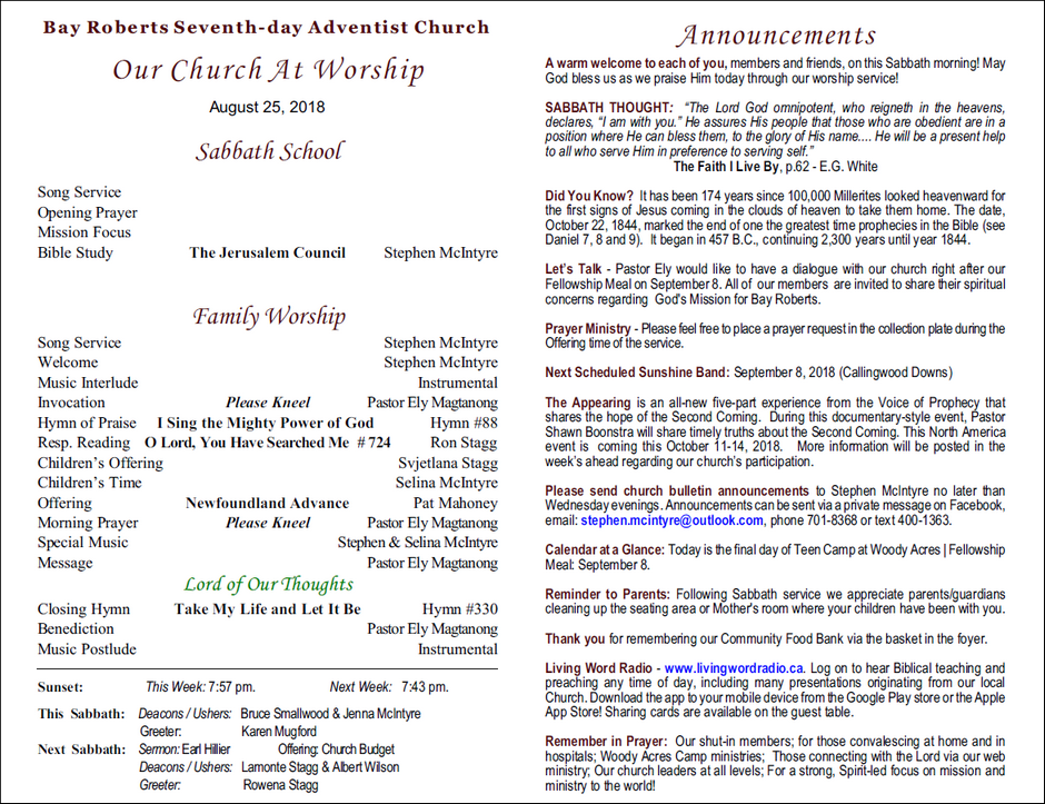 Seventh Day Adventist Church Live Sermons
